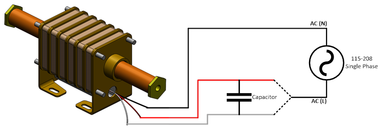 polynoid capacitor connection