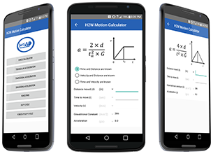 image of Linear Motion Calculator Android App