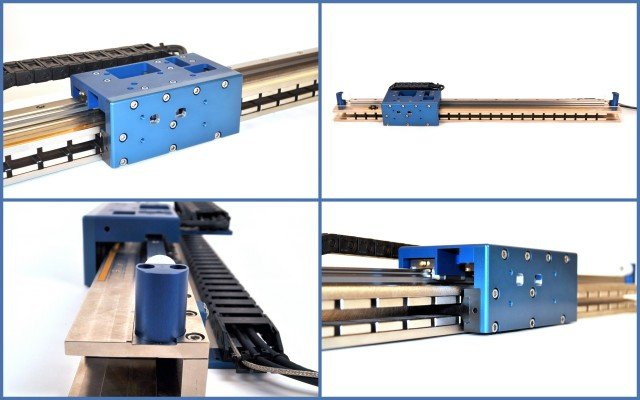 image of Vacuum Compatible Brushless Linear Motor Positioning Stage