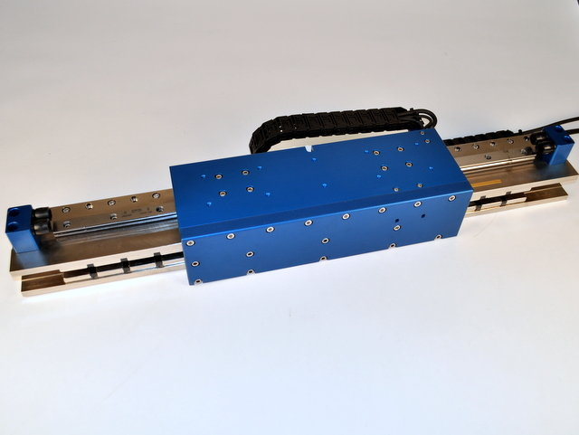 image of High Force Brushless Linear Motor Positioning Stage